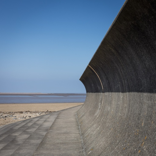 Curved Seawall, Burnham-on-sea, Somerset