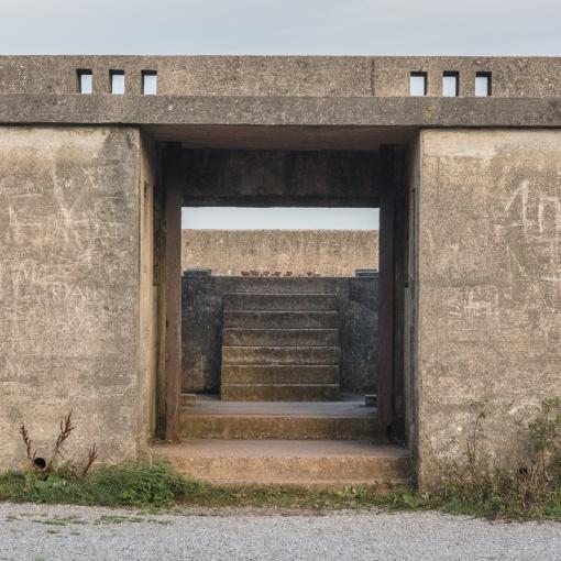 WW2 six inch ex-naval gun emplacement, Brean Down Fort, Somerset.
