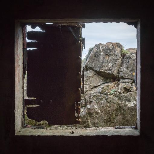 WW2 observation bunker, Brean Down Fort, Somerset.