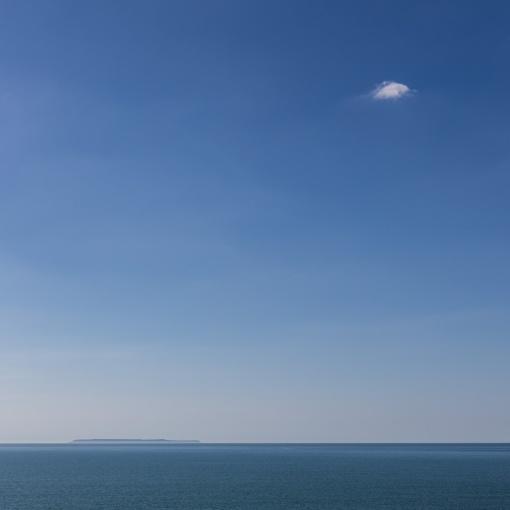 Lundy island and cloud, Devon.
