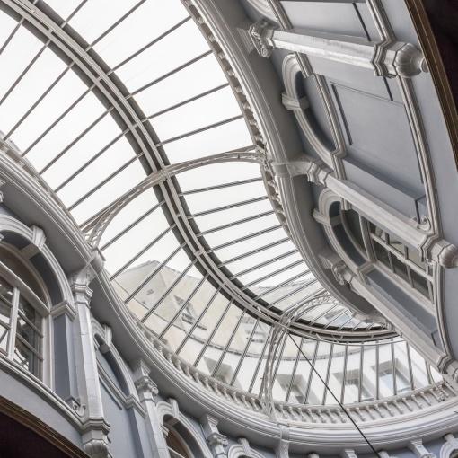Victorian era Morgan Arcade, Cardiff.