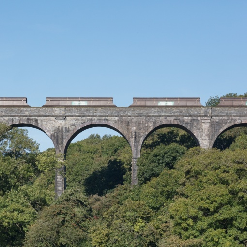 Porthkerry Viaduct and Aberthaw Coal Train, Glamorgan.