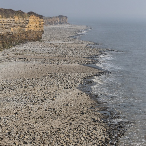 Cliffs towards Rhoose Point, Glamorgan.
