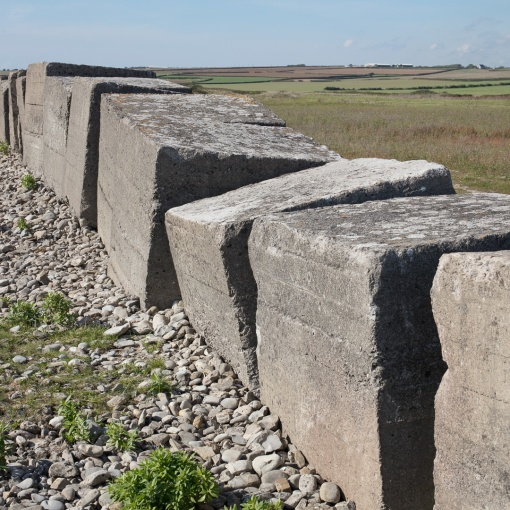 WW2 Anti-Tank Cubes I, Limpert Bay, Glamorgan.