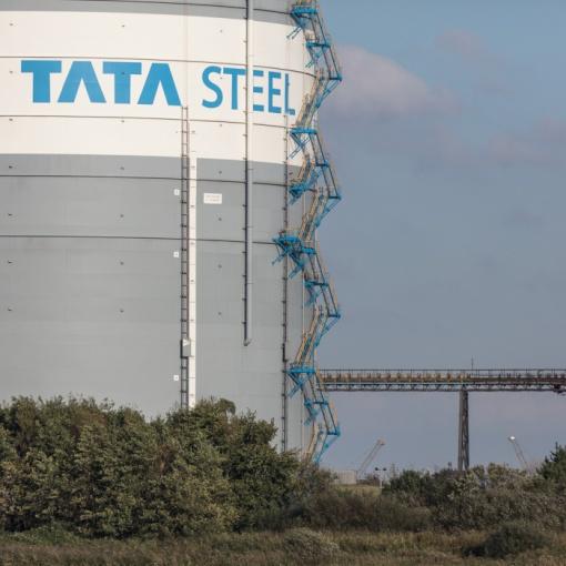 Gas Silo, Tata Steelworks, Port Talbot, Glamorgan.