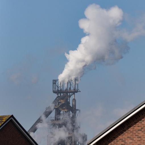 Neighbours, Margam. No.5 Blast furnace, Tata Steelworks, Port Talbot, Glamorgan.