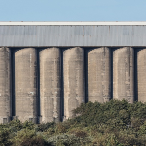 Coal Silos, Tata Steelworks, Port Talbot, Glamorgan.