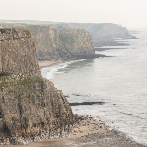 Gower Cliffs from Fall bay, Glamorgan.