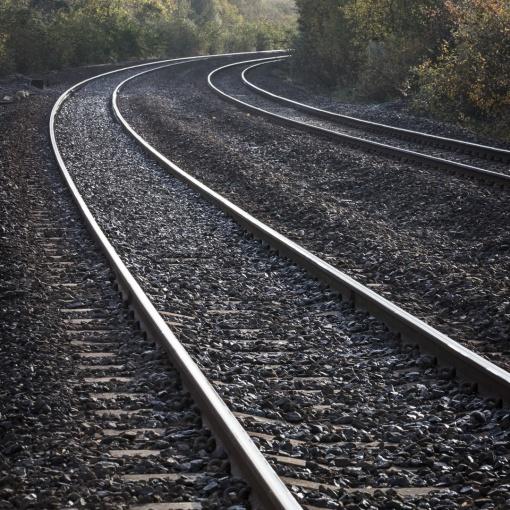 Rail lines, Kidwelly Dyfed.