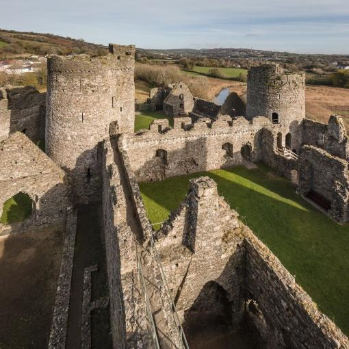 Inner Ward (c,1275), Kidwelly Castle, Dyfed.