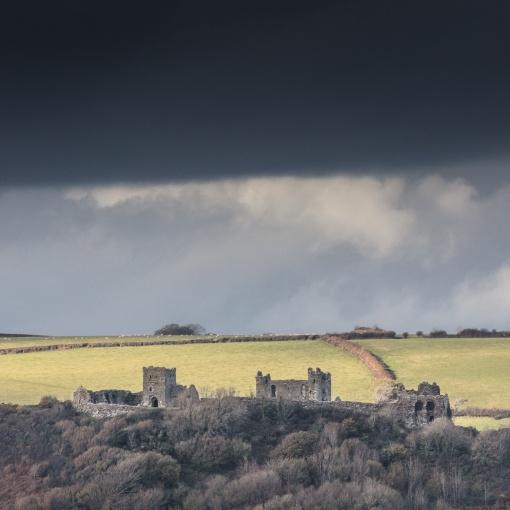 Llansteffan Castle, Dyfed.