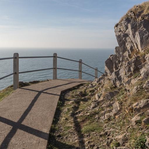 Coast path, Rams Tor, Gower, Glamorgan.