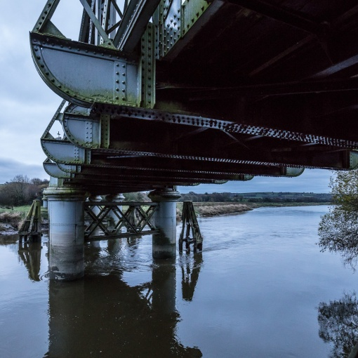Bascule bridge over the River Towy, Carmarthen, Gwent.