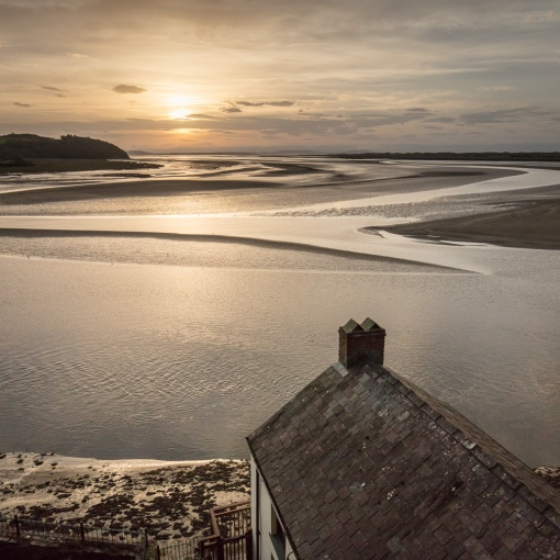 Dylan Thomas Boathouse, in which the poet lived with his family between 1949 and 1953, Laugharne, Dyfed.