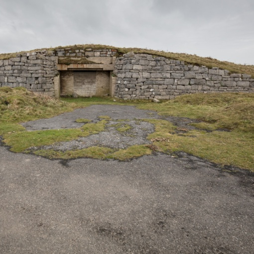 WW2 Inland firing point, Trevellan Downs Tank Range, Dyfed.