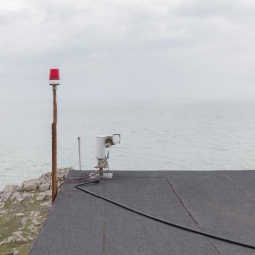 Coastguard Lookout, St. Govan's Head, Castlemartin range East, Dyfed.