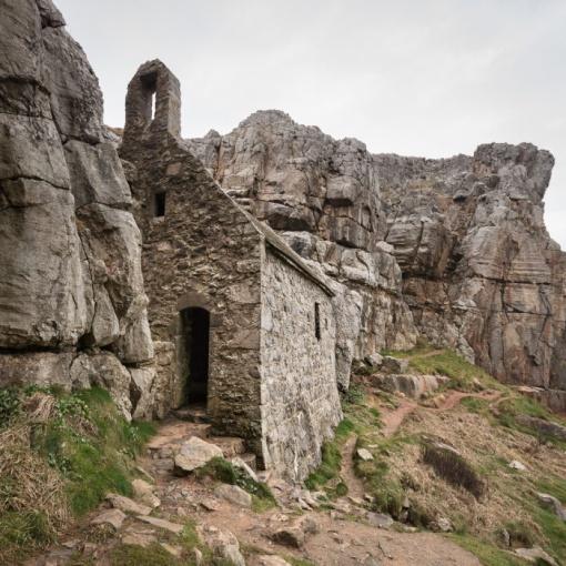 St Govan's Chapel, Dyfed.