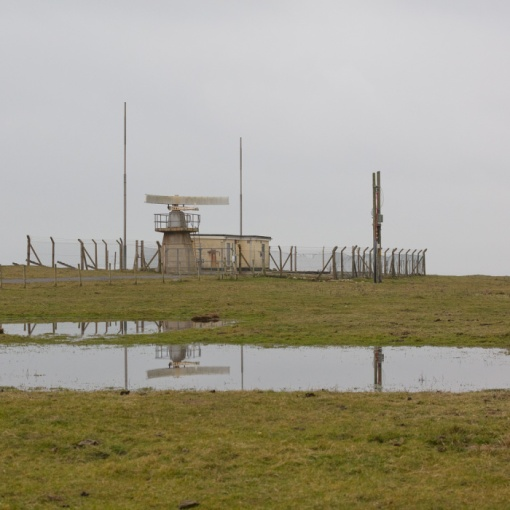 Radar Station at Castlehead, Castlemartin range East, Dyfed.
