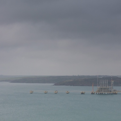 Milford Haven Jetty for delivery of Liquefied Natural Gas, South Hook Terminal, Dyfed.