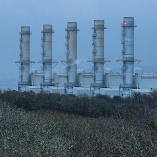 Pembroke natural gas-fired Power Station, the largest in Europe, Dyfed.