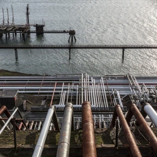 Dragon LNG Terminal, Milford Haven, Pembrokeshire.